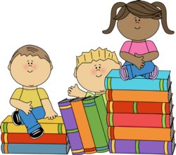 Image of kids on books